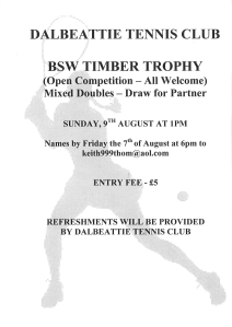 BSW Timber Trophy