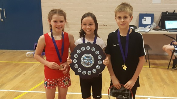 Cargenbridge Primary 2017 winners. Islay, Lucy & Arran