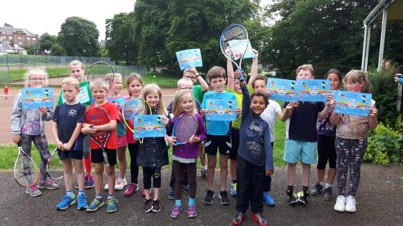 Beechgrove last year on Blaes mini tennis tournament