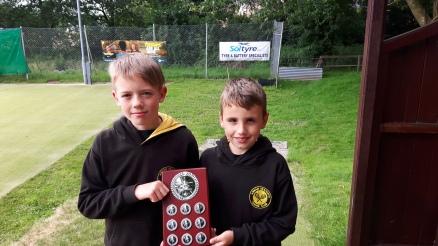 Danny & Flynn (Annan) D&G 10s & under league champions