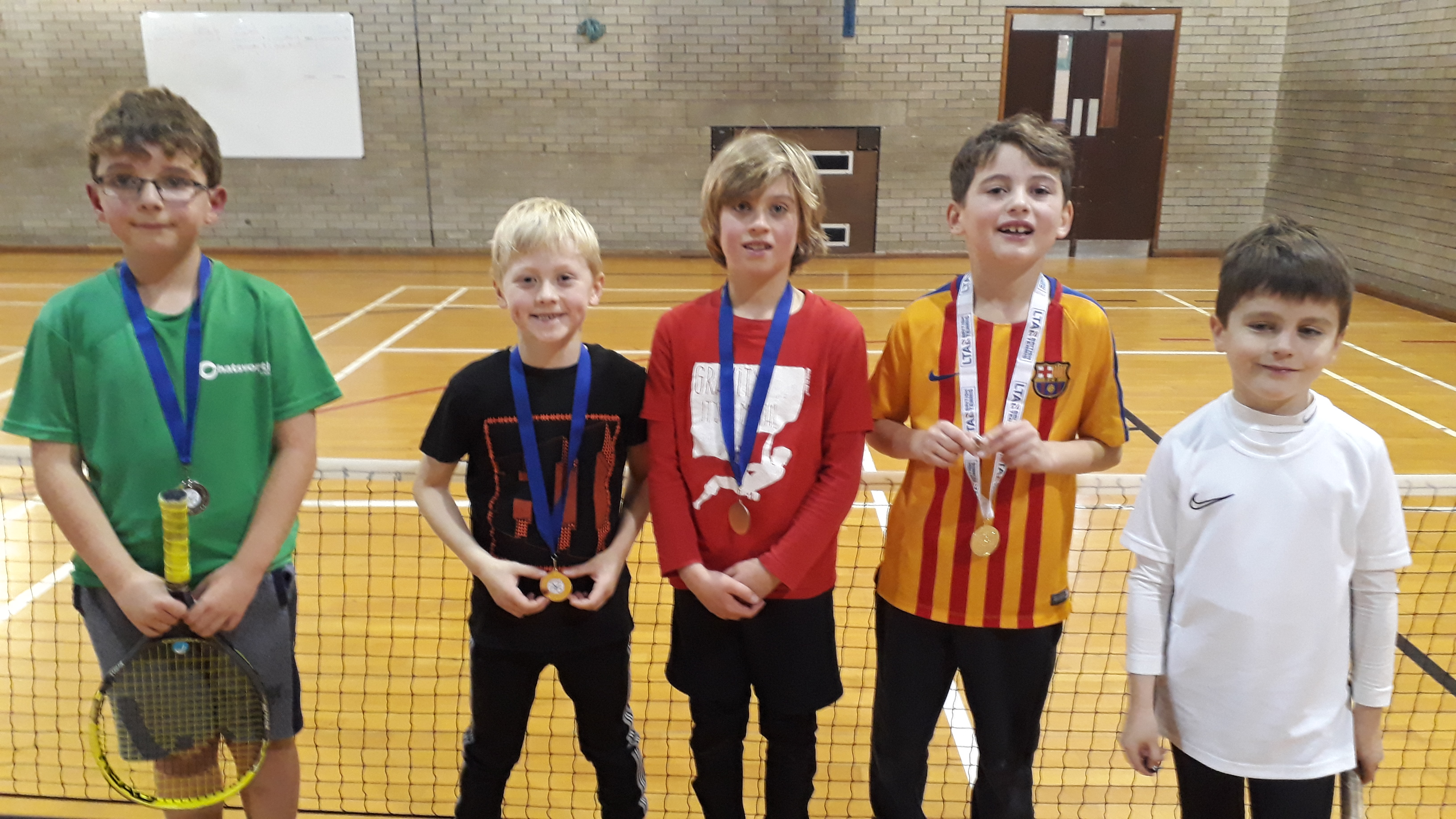 2nd Daniel, Winner Adam, 3rd Nathan, Consolation winner Lewis and Consolation R-Up Fergus.